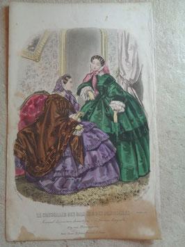 Gravure mode octobre 1857