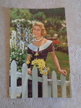Carte postale Pin up jardin 60's