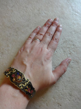 Bracelet émaillé perroquet