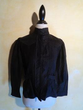 Corsage coton noir 1900 T.40