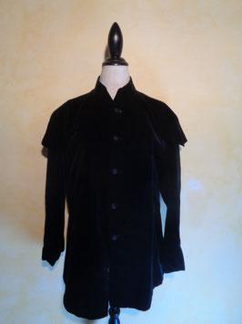 Manteau velours de soie 1900 T.40