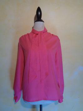 Chemise lavallière rose T.38