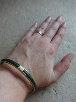 Bracalet cuir vert