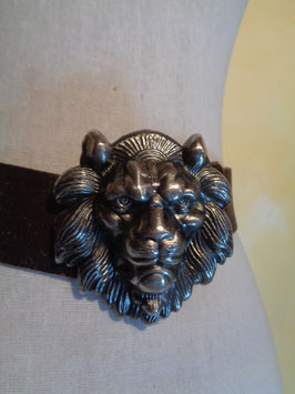 Ceinture boucle lion