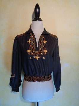 Blouse folk 70's T.36