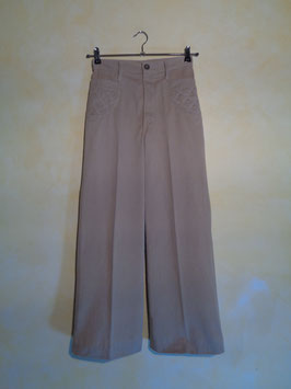 Pantalon velours beige 70's T.36