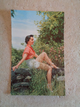 Carte postale Pin up nature 60's