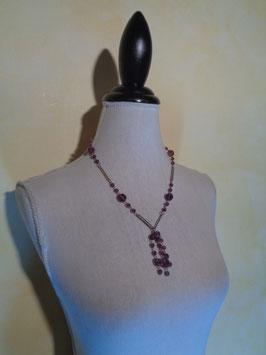 Pluie de perles violettes