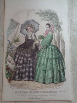Gravure mode septembre 1855