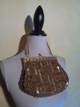 Pochette perles dorées