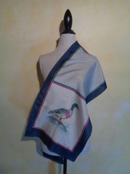 Foulard canard soie