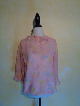Blouse rose 60's T.38