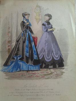 Gravure mode 19ème siècle