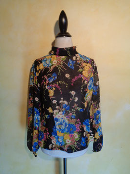 Blouse power flower 70's T.38