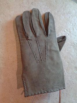 Gants cuir gris 70's