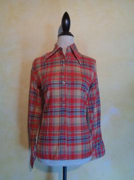 Chemise carreaux 70's T.36