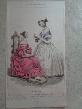 Gravure de mode janvier 1839