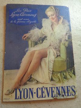 Carton publicitaire bas Lyon Cevennes 60's