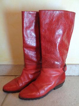 Bottes cuir rouge P.39