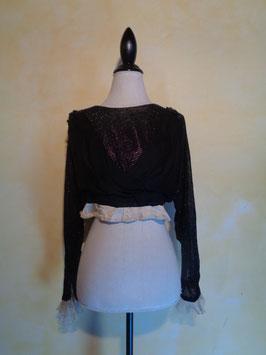 Caraco perlé noir 1900 T.34-36
