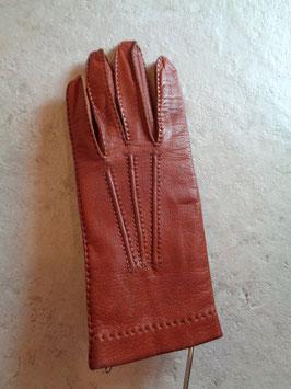 Gants cuir marron 70's