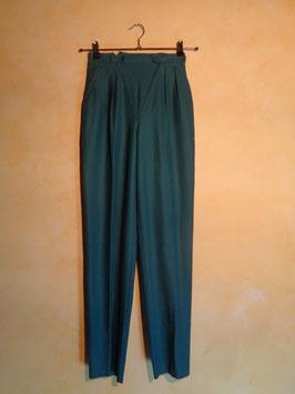 Pantalon laine vert 90's T.34