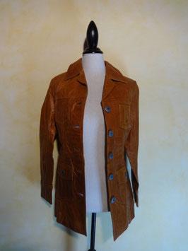Manteau argentin cuir 70's T.36