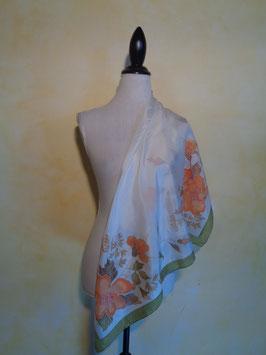 Foulard soie fleuri