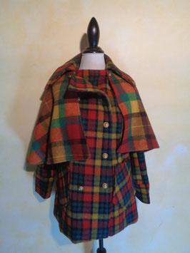 Manteau à carreaux 60's T.36