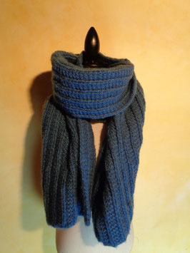 Echarpe laine bleue