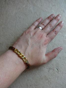 Bracelet cuir chaîne