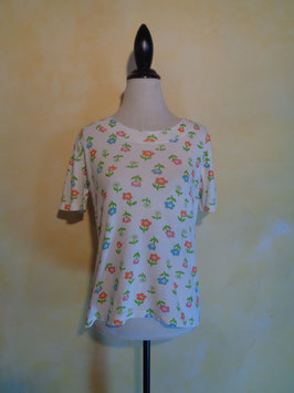 T shirt Power Flower 70's T.38