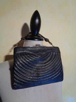 Pochette cuir noir 40's