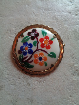 Broche Porcelaine