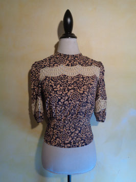 Top fleuri 40's T.36