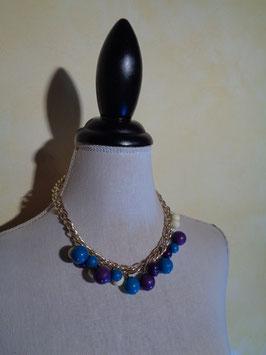 Collier perles 70's