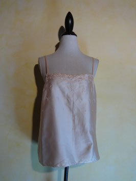 Caraco satin rose 70's T.38