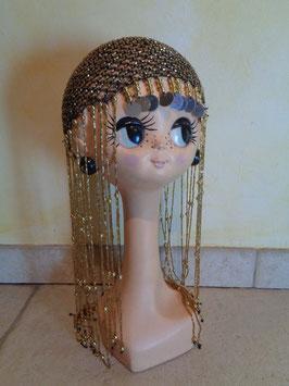 Bonnet à perles 70's