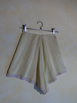 Shorty soie jaune 50's T.36