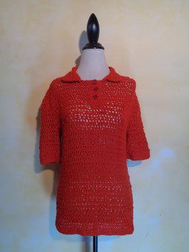 Polo maille 70's T.40