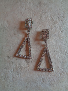 Boucles d'oreille triangle strass