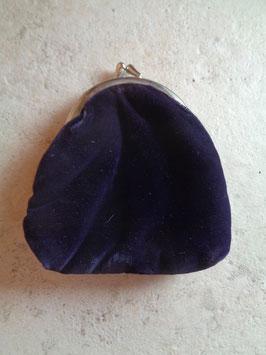 Porte monnaie velours violet