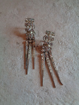 Clips pendants strass