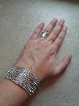 Bracelet multirangs strass