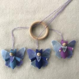 Vlinder mobiel met 3 vlinders
