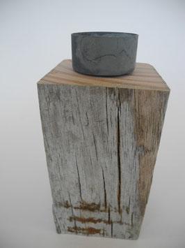 --GREY-- Teelichthalter aus Treibholz