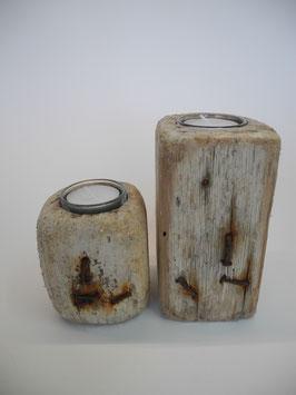 --OXID II--Teelichthalter aus Treibholz