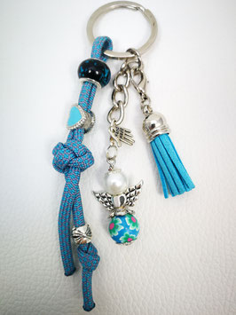 Schlüsselanhänger aus Paracord rauchblau