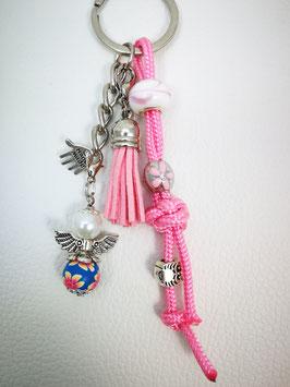 Schlüsselanhänger aus Paracord rosa