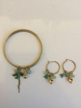 Armband + oorbellen